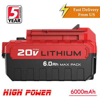 6.0Ah Lithium-Ion 20 Volt Battery for PORTER CABLE 20V Max PCC680L PCC685L Tools