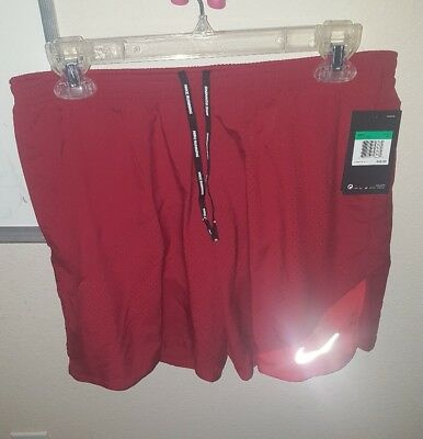 1ec5c9eed6b9 Mens Size XL Nike Flex Dri Fit Running Shorts Lined Athletic Red 834213 608