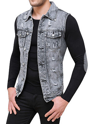 save up to 80% new arrival the sale of shoes SANS MANCHES JEANS DIAMOND EN JEANS VESTE GILET CARDIGAN SLIM FIT de S en  XXL