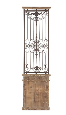 Old Rustic Wall Decor Large Metal Farmhouse Decor Reclaimed Vintage Wood Gate