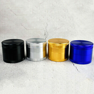New 4 Layers Zinc Alloy Metal Grinder Spice Cursher for Tobacco Smoking 55mm