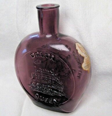 Clevenger Brothers 1973 Amethyst Flask Bottle Delta Queen Authentic Handmade