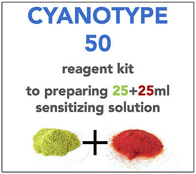 CYANOTYPE REAGENT KIT (for 25+25ml) ALL YOU NEED TO SENSITIZE 10-15 A4 SHEETS