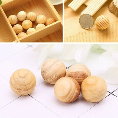 5Pcs Natural Cedar Wood Moth Ball Bead Camphor Repellent Wardrobe Drawer 25mm