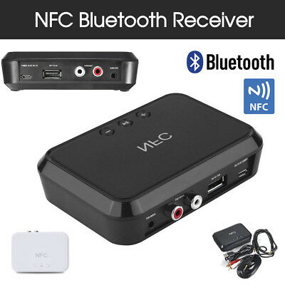 HIFI NFC Audio Receiver Wireless Bluetooth Music Adapter 3.5MM RCA USB Charger