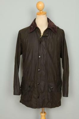 Mens BARBOUR Classic Beaufort WAXED Jacket Olive Size 38