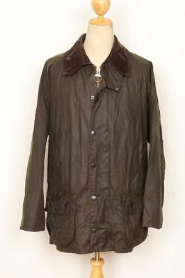 Mens BARBOUR Classic Beaufort WAXED Jacket Olive Size 42