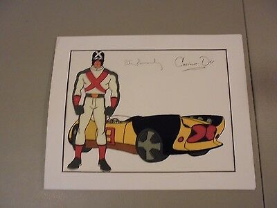 Vintage Speed Racer Autographed Cell Peter Fernandez,corrinne Orr,cartoon Racer