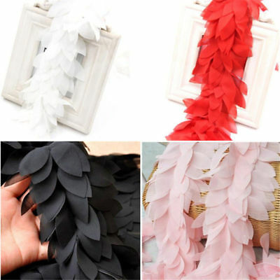 1 Yard Chiffon Leaves Lace Trim Tulle Lace DIY Craft Clothing Accessories Decor