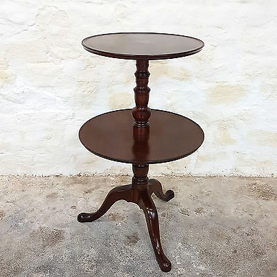 Georgian Mahogany Dumb Waiter / Tripod Table - Late C18th (George III Antique)