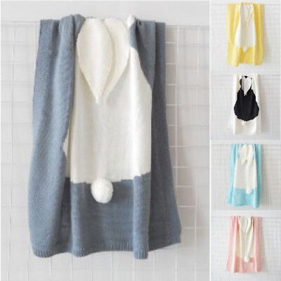 Towel Cover Napping Blanket Rabbit Soft Ear Bedding For Cute Bunny Baby Kids