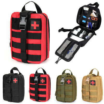 Tactical First Aid Medical Kit Bag Molle EMT Outdoor Emergency Survival Pouch BM