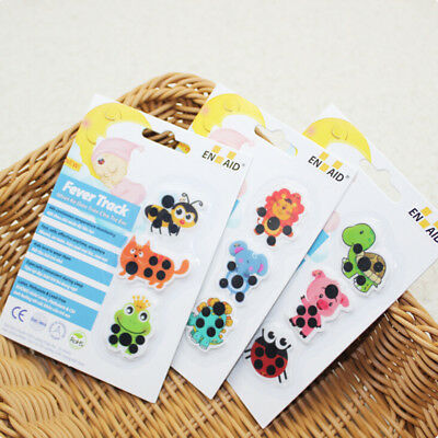 Kids medical temperature for baby cartoon forehead sticker thermometer EB