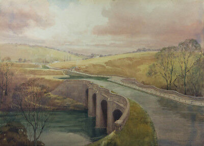 Watson Charlton - Large Early 20th Century Watercolour, Kelvin Aqueduct