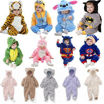 Toddler Kids Baby Pajamas Animal Cosplay Costume Sleepwear Bathrobe Jumpsuits