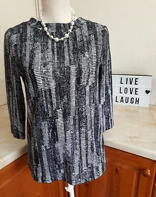 Y22 Ladies Gorgeous Marks And Spencer Top Tshirt M&S Career Office Smart Size 8