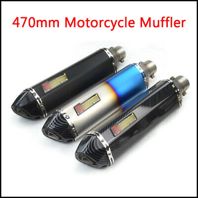 470mm Universal Motorcycle Stainless Steel Exhaust Muffler Pipe With DB Killer