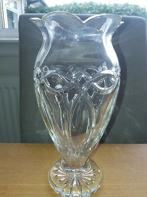 Waterford Crystal Seahorse Vase 10 Inches 25cm 7000 Picclick Uk