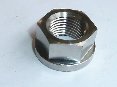 Honda VTR1000 F Firestorm  REAR AXLE FLANGED NUT TITANIUM M18X1.5 SWINGARM R2C8