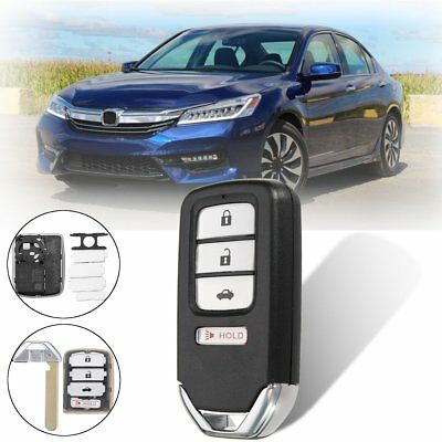 3+1 Buttons Remote Key Fob Case Shell Blade For Honda Accord Civic CRV CRZ