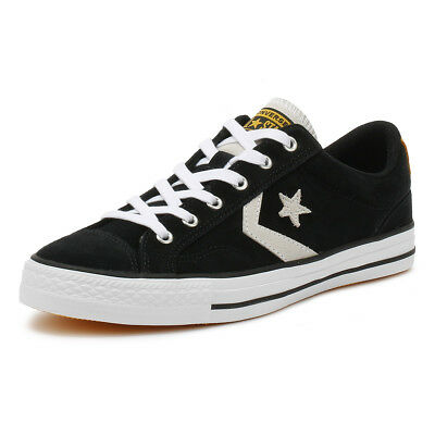 81bc893606e3 Converse Mens Trainers Black   White Star Player Suede Ox Sport Casual Shoes