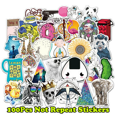 100pc Cartoon Style Sticker Anime Cute Animal Children's Stickers for Skateboard
