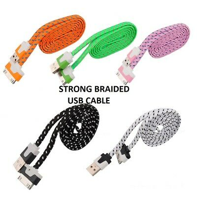 Braided lot Sync USB Charging Charger Cable Cord for ipad 2 iPad 3 iPod touch
