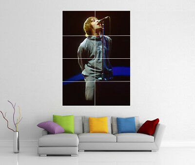 Liam Gallagher Oasis Live At Maine Road Manchester Giant Wall Art Print Poster