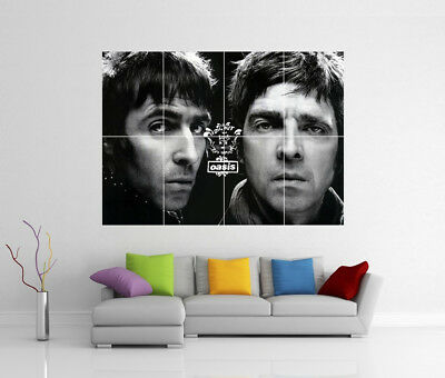 Oasis Liam & Noel Gallagher Giant Wall Art Cc6 Print Poster
