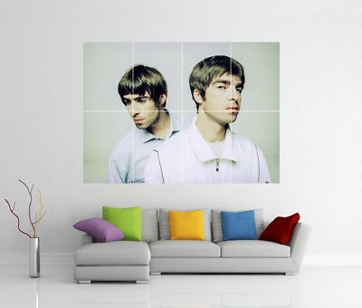 Oasis Liam & Noel Gallagher Giant Wall Art Ee1 Print Poster