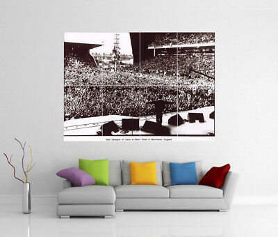 Oasis Live At Maine Road Manchester Liam Noel Gallagher Giant Art Print Poster
