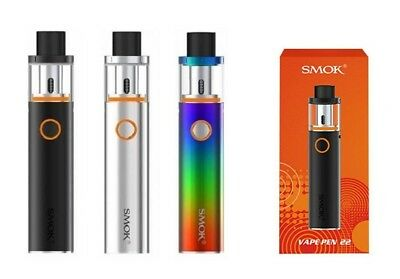 SMOK Stick Vape Pen 22 Kit 1650mAh Battery Coil e Cigarette e Cig Main Colours