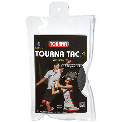 Tourna Tac XL 10 Pack Tennis Overgrip Black - Free P&P