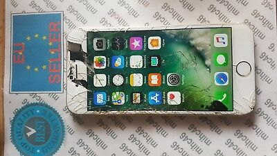 APPLE IPHONE 6 64gb - cracked lcd + glass, front camera not working,  unlocked