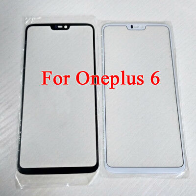 For Oneplus 6 One Plus 6 1+6 New Front Glass Lens Outer Touch Panel Replacement