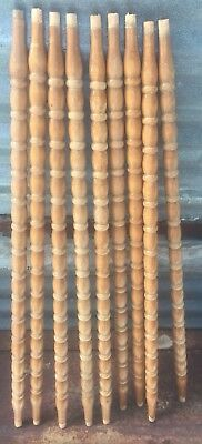 """9 Architectural Salvage Wood Turned Baluster Spindles Furniture Repurpose 27.5"""""""