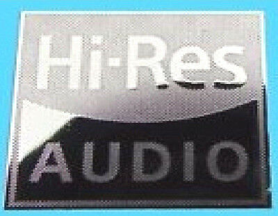 HI - RES AUDIO  Silver Metallic Stickers Chrome 7 vinyl 10 8 Windows 10mmx10mm