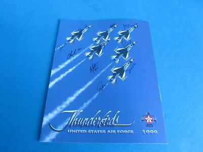 Vintage Thunderbirds 1999 Souvenir Brochure United State Air Force Pilot Signed