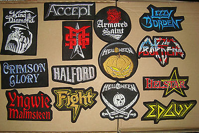 Helloween Edguy Helstar Armored Saint Halford Malmsteen MSG Embroidered PATCH