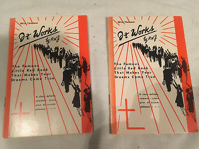 IT WORKS lot of 2 RHJ softcover FAMOUS LITTLE RED BOOK MAKES DREAMS COME TRUE