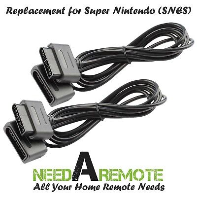 2x Game Controller Extension 6 Foot Cable Cord for Original Super Nintendo SNES
