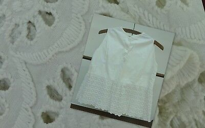 Antique Embroidered Lace Girls Baby's Petticoat Dress Victorian Broderie Anglais