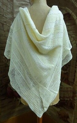 Vintage Knitted Baby Shawl Wrap Blanket Early/Mid 1900's  Dolls Pram Collectors