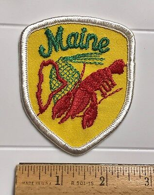 Maine ME Red Lobster New England Souvenir Embroidered Patch Badge