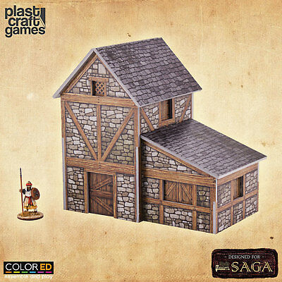 ColorED Scenery: Two-story Medieval Dwelling