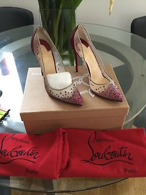 ce9851cdb5df CHRISTIAN LOUBOUTIN FOLLIES Strass 70 Mesh Glitter W  Box And Linen ...