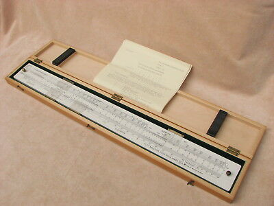 Rare Pilot Balloon MK IV A Slide Rule in fitted case