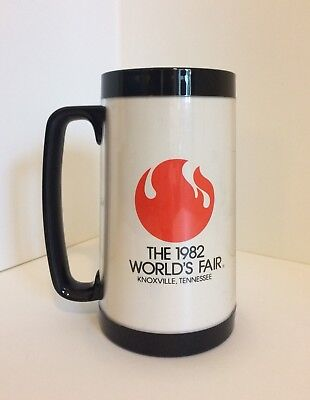 THE 1982 WORLD'S FAIR Knoxville, TN Classic Thermo-Serv Insulated Mug