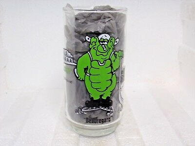 Scarce 1977 Taco Villa Advertising Glass-Beauregard!Save you from the Hungries!