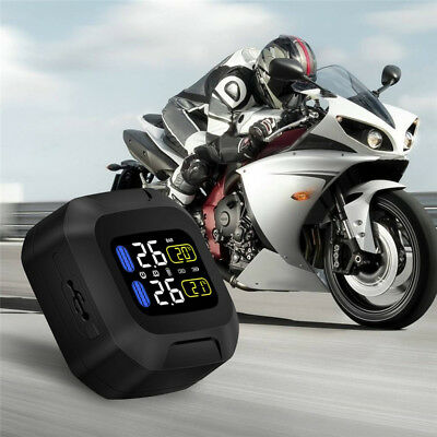 Motorcycle Mini Keychain LCD Digital Tire Air Pressure Gauge Meter Tester #C